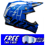 Bell Crosshelm Moto-9 Flex Fasthouse DITD 20 - Blauw / Wit