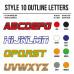Cross Shirt Bedrukken Style 10 - Outline