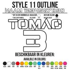 Cross Shirt Bedrukken Style 11 - Outline