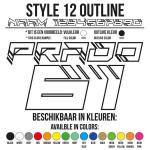 Cross Shirt Bedrukken Style 12 - Outline