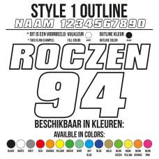 Cross Shirt Bedrukken Style 1 - Outline