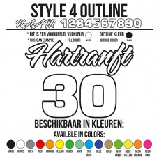 Cross Shirt Bedrukken Style 4 - Outline