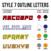 Cross Shirt Bedrukken Style 7 - Outline