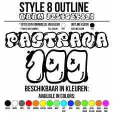 Cross Shirt Bedrukken Style 8 - Outline