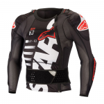 Alpinestars Bodyprotector Long Sleeve Sequence - Zwart / Wit / Rood