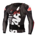 Alpinestars Bodyprotector Long Sleeve Sequence - Zwart / Wit / Rood