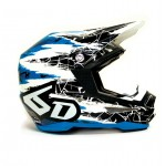 6D Crosshelm ATR-1 Chaos Graphic - Jeugd - Blue Gloss
