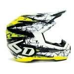 6D Crosshelm ATR-1 Chaos Graphic - Jeugd - Yellow Gloss