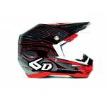 6D Crosshelm ATR-1 Crusader Graphic - Zwart / Rood XL