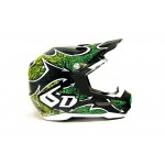 6D Crosshelm ATR-1 Maze Graphic - Green Gloss
