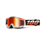 100% Crossbril Racecraft Ultrasonic - Mirror Red Lens