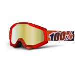 100% Crossbril Strata Fire Red - Mirror Lens