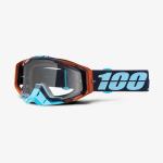100% Crossbril Racecraft Ergono - Koper / Zwart / Cyan - Clear Lens