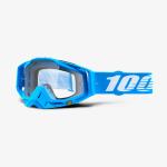 100% Crossbril Racecraft Monoblock - Cyan Blauw / Wit - Clear Lens