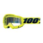 100% Crossbril Accuri 2 - Fluo Geel - Clear Lens