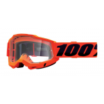 100% Crossbril Accuri 2 - Neon Oranje - Clear Lens