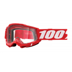 100% Crossbril Accuri 2 - Neon Rood - Clear Lens