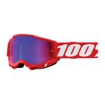100% Crossbril Accuri 2 - Neon Rood - Spiegel Lens