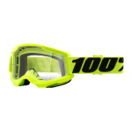100% Crossbril Strata 2 - Fluo Yellow - Clear Lens