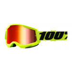 100% Crossbril Strata 2 - Fluo Yellow - Spiegel Lens