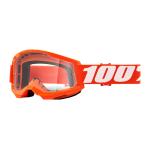 100% Crossbril Strata 2 - Orange - Clear Lens