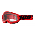 100% Crossbril Strata 2 - Rood - Clear Lens