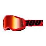 100% Crossbril Strata 2 - Rood - Spiegel Lens