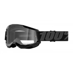 100% Crossbril Strata 2 - Zwart - Clear Lens