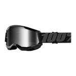 100% Crossbril Strata 2 - Zwart - Spiegel Lens