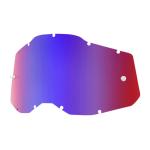 100% Lens RC2/AC2/ST2 - Spiegel Rood / Blauw