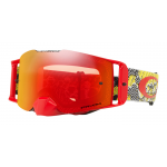 Oakley Crossbril Front Line MX Dazzle Dyno Rood Geel - Prizm Torch Lens