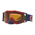 Oakley Crossbril Front Line MX Heritage B1B Yellow Navy - Prizm Bronze Lens