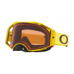 Oakley Crossbril Airbrake Moto Yellow - Prizm Bronze Lens