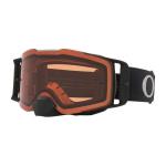 Oakley Crossbril Front Line MX Tuff Blocks Black Gunmetal - Prizm Bronze Lens