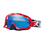 Oakley Crossbril Crowbar TLD Metrix Red White - Black Ice Iridium Lens