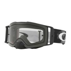 Oakley Crossbril Front Line MX Matte Black Speed - Clear Lens