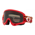 Oakley Crossbril O-frame Braking Bumps Red Orange - Dark Grey Lens