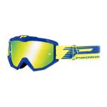Progrip Crossbril 3201 FL Atzaki - Blauw - Spiegel Lens
