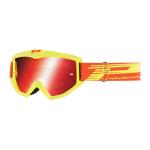 Progrip Crossbril 3201 FL Atzaki - Geel - Spiegel Lens