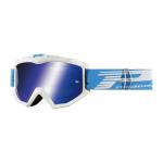 Progrip Crossbril 3201 FL Atzaki - Wit - Spiegel Lens