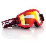 Progrip Crossbril 3204 - Fluo Mat Rood - Spiegel Lens