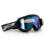 Progrip Crossbril 3204 - Fluo Mat Zwart - Spiegel Lens Blauw