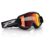 Progrip Crossbril 3204 - Fluo Mat Zwart - Spiegel Lens Rood