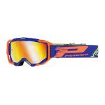 Progrip Crossbril 3303 FL Vista - Blauw / Fluo Oranje - Spiegel Lens