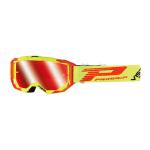 Progrip Crossbril 3303 FL Vista - Fluo Geel / Rood - Spiegel Lens