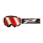 Progrip Crossbril 3303 FL Vista - Zwart / Wit - Spiegel Lens