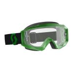 Scott Crossbril Hustle X MX - Groen / Zwart - Clear Lens