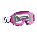Scott Crossbril Hustle X MX - Roze / Zwart - Clear Lens