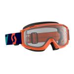 Scott Crossbril Split OTG - Oranje / Blauw - Clear Lens