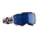 Scott Crossbril Fury - Blauw / Wit - Spiegel Lens